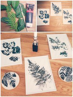 DiY Bilder, Blätter, Stempelbilder, ,