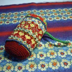 Lovestory. A folk bag by Peony And Parakeet. #knitting #stitching