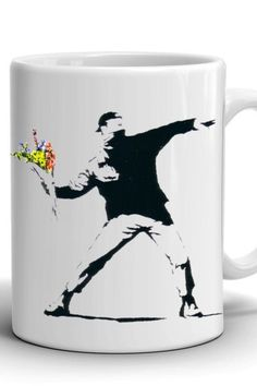 Boyfriend Gift/Banksy mug/Сoffee mug/Work mug/Office mug/Banksy print/Best gift/Birthday gift/Present/Stylish coffee mug/For Him Mug Crafts, Banksy, Boyfriend Gifts, Different Colors, Birthday Gifts, Coffee Mugs, Print Design, Best Gifts, Presents