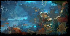 Medium Underwater Concept Picture  (2d, illustration, underwater, fish)