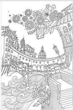 A BELLA ITALIA MADE IN KOREATOP QUALITYColoring Book For Children Adult  Graffiti Painting Drawing Book Like SECRET GARDEN