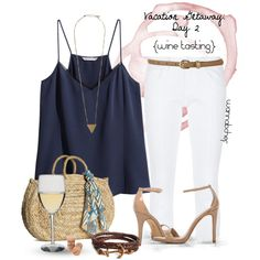A fashion look from August 2014 featuring polyester shirt, white pants and Steve Madden. Browse and shop related looks. Summer Outfits, Girl Outfits, Casual Outfits, Cute Outfits, Fashion Outfits, Womens Fashion, Vacation Outfits, Country Outfits, Summer Clothes