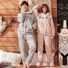 Cute Matching Pjs Quotes Pajamas For Couples Matching Couple Pajamas, Matching Pajamas, Matching Couples, Couples Onesies, Cute Couple Outfits, Hooded Flannel, Cute Sleepwear, Night Suit, Fashion Couple