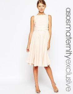 ASOS+Maternity+Skater+Dress+With+Wrap+Waist