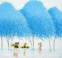 Awesome colorful paintings by Phan Thu Trang - Ego - AlterEgo Modern Oil Painting, Oil Painting Abstract, Diy Painting, Abstract Art, Colorful Paintings, Cool Paintings, Landscape Paintings, Pinturas Em Tom Pastel, Beautiful Vietnam