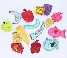 Rosh HaShana Crafts Paper shapes:   creativejewishmom.com: great site full of jewish crafts & decor  #jewishcraft, #roshhashanah