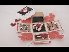 DIY birthday exploding box card (Sweetheart surprise) - YouTube