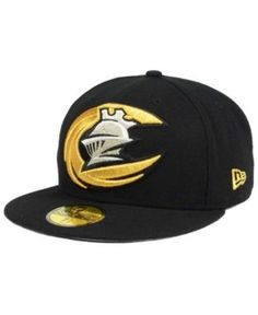 5d2ad2eef10 New Era Charlotte Knights MiLB Logo Grand 59FIFTY Cap - Black 7 1 2  Charlotte
