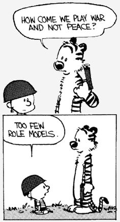 From Calvin and Hobbes, written and illustrated by American cartoonist Bill Watterson from 1985