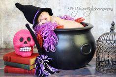 Halloween newborn baby girl