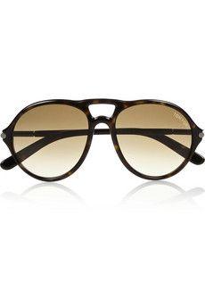 Tom Ford Jasper aviator-style acetate sunglasses  | THE OUTNET