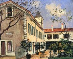 Maurice Utrillo Houses In The Trees oil painting reproductions for sale