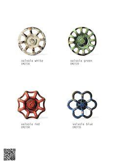 #Möbelknöpfe aus #keramik #knaeufe von #knaeufe.de #möbelgriffmanufaktur aktueller #Katalog2015 #keramikknöpfe #möbelknopf aus Metall #Valvola #Ventilmöbelknöpfe #Retro #Retrolook #Retroknöpfe #Shabby #Shabbylook
