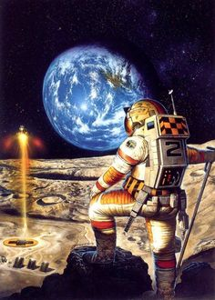 Fantasy - Surrealism - Other Art Art Science Fiction, Perry Rhodan, Arte Sci Fi, 70s Sci Fi Art, Sci Fi Fantasy, Horror Art, Nasa, Cover Art, Illustrators