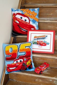 Vervaco kits  cars #Disney #cars #cushions #countcrossstitch #diy #kit