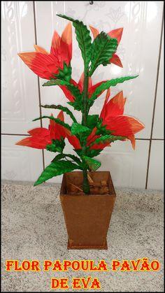 Neste tutorial você ira aprender de um jeito rápido e fácil de fazer a flor Papoula Pavão de eva e também uma ótima maneira  de você obter uma renda EXTRA
