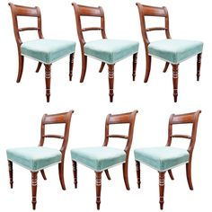 1stdibs | A Good Set Of Six Regency Period Mahogany Dining Chairs