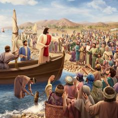Jesus hablando al pueblo