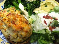 Twice Baked Crab Stuffed Potato