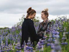FLOWER POWER #iceland #summeriniceland #lupins #bohogirl #bohostyle #hippiegirl #hippiestyle #naturlovers #travellers #sisters #sisterhood Boho Girl, Hippie Style, Iceland, Flower Power, Boho Fashion, This Is Us, Sisters, Journey, Photo And Video
