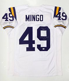 Barkevious Mingo 1st Round Pick Autographed White Jersey JSA Auth     Check  this awesome 7bd45f236