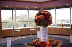 Venue Decorations | Vickys Flowers - Wedding Flower service with style and creativity | East Calder , West Lothian Flower Service, Wedding Flowers, Creativity, Table Decorations, Home Decor, Style, Homemade Home Decor, Decoration Home, Wedding Ceremony Flowers
