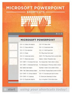 Microsoft Powerpoint PC Keyboard Shortcut por brigetteidesigns