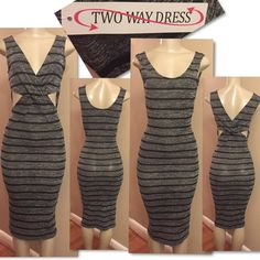 Cross front 2 way Dress