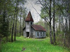abandoned church at the end of a dirt road in Lincoln County, Wisconsin. Built in 1907.