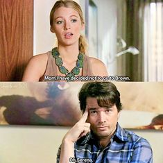 "Gossip Girl ""Dan de Fleurette"" - Serena and Rufus Gossip Girl Funny, Gossip Girl Memes, Gossip Girls, Gossip Girl Serena, Gossip Girl Chuck, Funny Girl Quotes, Movie Quotes, New York Quotes, Paris And Nicole"