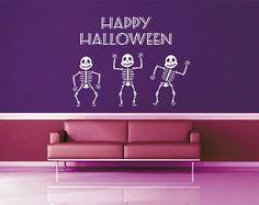 kik2939 Wall Decal Sticker Halloween skeletons greeting coffee shop showcase