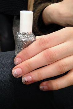 NYFW: Jenny Packham Glitter Nails Autumn Winter 2013-14 (Vogue.com UK)
