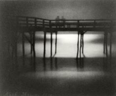 """Reflections, Moonlight, Arverne, Long Island"" by Karl Struss (Platinum print, 1910) #photography"