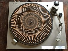 Turntable Slipmat  Specially designed Cork. geometric by TAZstudio