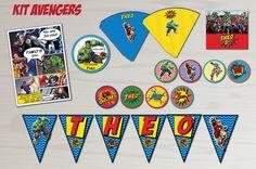 The Avengers Hero Party Kit Comic Marvel Printable DIY Chevron Colors