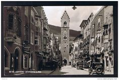RB 953 - 1950 Italy Censored Postcard - Vipiteno Sterzing L35 rate to Wein Vienna Austria - Clock Tower & Sundial - Delcampe.net