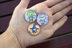 Mini glass magnets Mini Mágnes Hűtőmágnes Üveglencse Halloween