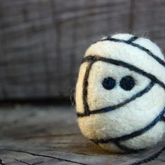 Needle Felted Wool Mummy Egg Halloween Toy Made to Order