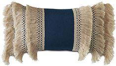 One Kings Lane Callie 13x22 Outdoor Lumbar Pillow - Indigo - indigo/natural #Sponsored , #ad, #Callie#Kings#Lane Office Supplies List, Nursery Design, Blue Pillows, Desk Accessories, One Kings Lane, Great Rooms, Lumbar Pillow, Indigo, Outdoor Furniture