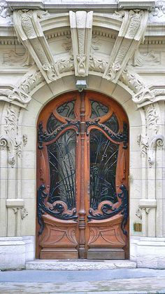 Art Nouveau door in a courtyard of Square Rapp | Flickr  Photo Sharing!
