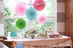 A fun, bright wedding shower!