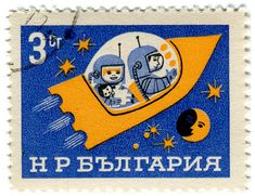 (Can I use this for my postcard bulletin boards??) Bulgaria postage stamp: space ship by karen horton, via Flickr