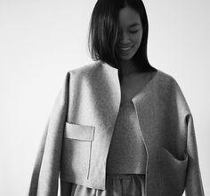 Chic Minimalist Tailoring - crisp wool jacket, minimal fashion // Maria Van Nguyen