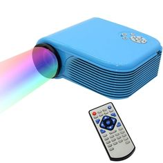 [$56.80] H88 Full HD 1080P Home Theater Mini Projector for Video Games TV Movie, Support Double HDMI / VGA / AV / Double USB(Blue)