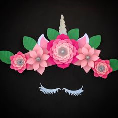 A personal favorite from my Etsy shop https://www.etsy.com/listing/587550819/unicorn-paper-flowers-giant-paper-flower