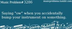 Why do we do that?<<~~~ because our instruments are a part of us.