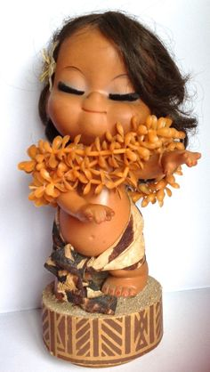 "Vintage Lanakila 9"" Musical Windup Hawaiian Hula Doll..."