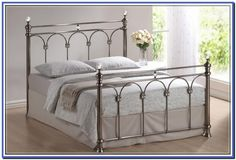 Full Size Metal Bed Frame With A Double Ended Attachment - Bed ...