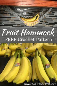 Lonely Banana? Crocheted Fruit Hammock FREE Pattern Crochet Hammock, Diy Hammock, Crochet Gifts, Crochet Yarn, Free Crochet, Easy Crochet, Crochet Minecraft, Crochet Fruit, Crochet Home Decor