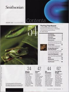 Smithsonian Magazine Table of Contents 2013
